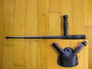 L型バトン(全身ブラックタイプ)皮ケース付「シリアルNo.AB154~AB204 50本限定」